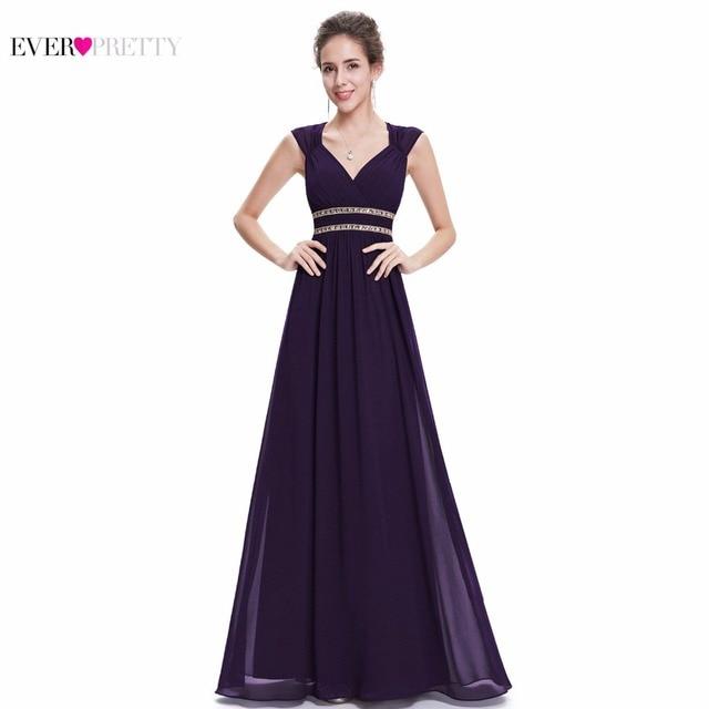 אי פעם די 2018 עמילות סגנון נשים אלגנטי שושבינה שמלות ארוך V-צוואר פורמליות שמלת מסיבת חתונה שמלת XX79680PEA