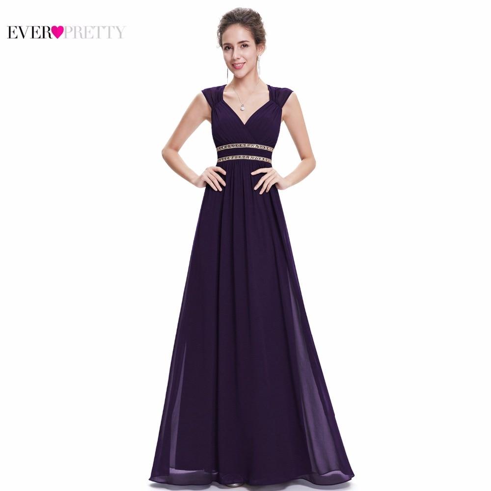 Ever Pretty 2017 Clearance Style Women Elegant Bridesmaid Dresses Long V-Neck Formal Dress Wedding Party Dress XX79680PEA