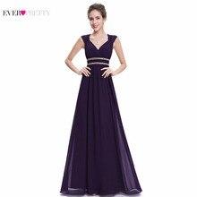 Ever Pretty 2017 New Women Elegant Bridesmaid Dresses V Neck Long Formal Dress Cheap Plus Size Party DresseS XX79680PEA