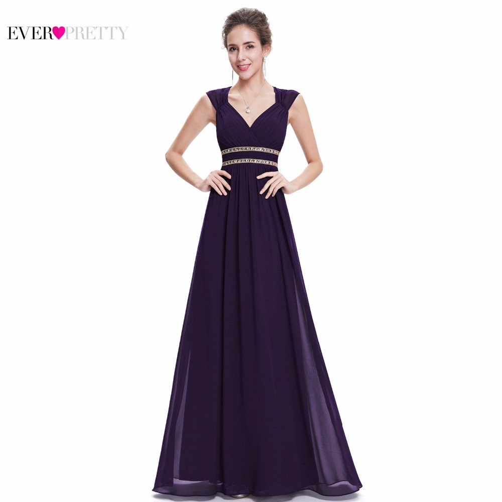 Ever Pretty 2018 Clearance Style Women Elegant   Bridesmaid     Dresses   Long V-Neck Formal   Dress   Wedding Party   Dress   XX79680PEA