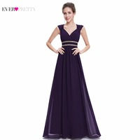Ever Pretty 2018 Clearance Style Women Elegant Bridesmaid Dresses Long V Neck Formal Dress Wedding Party Dress XX79680PEA
