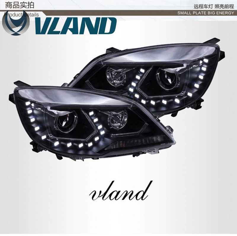 Free Shipping for VLAND factory for Great Wall H6 LED Headlight 2011 2013 HID BI Xenon Headlamp with LED DRL Plug and Play free shipping for vland car head lamp for hyundai elantra led headlight hid h7 xenon headlamp plug and play for 2011 2013