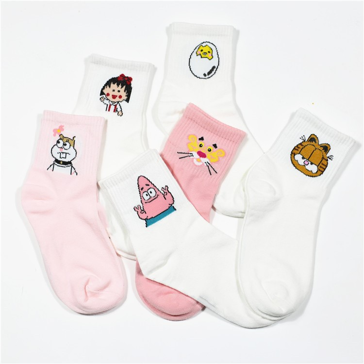 High Quality Cute Elegant Lovely Kawaii Cartoon Sweet Harajuku Cotton Women   Socks   Animals Character Casual Short   Socks   Hot ZM-06