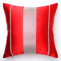 New luxury red beauty strip diamond Dec Cushion Cover Rhinestone cushion cover sofa bed home car room ornament wholesale FG501
