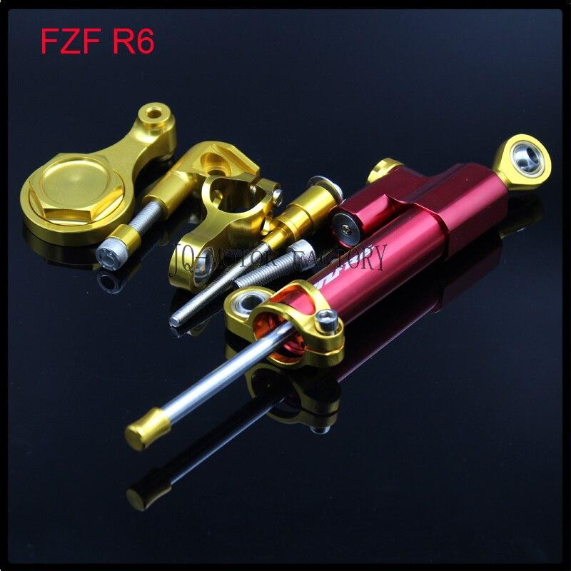Motorcycle CNC Steering Damper Stabilizer Bracket Full For YAMAHA YZ F R6 2006 2007 2008 2009