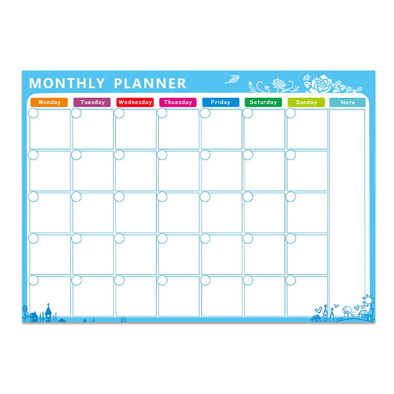Magnetic Board A3 Monthly Calendar Dry Erase Magnetic Whiteboard