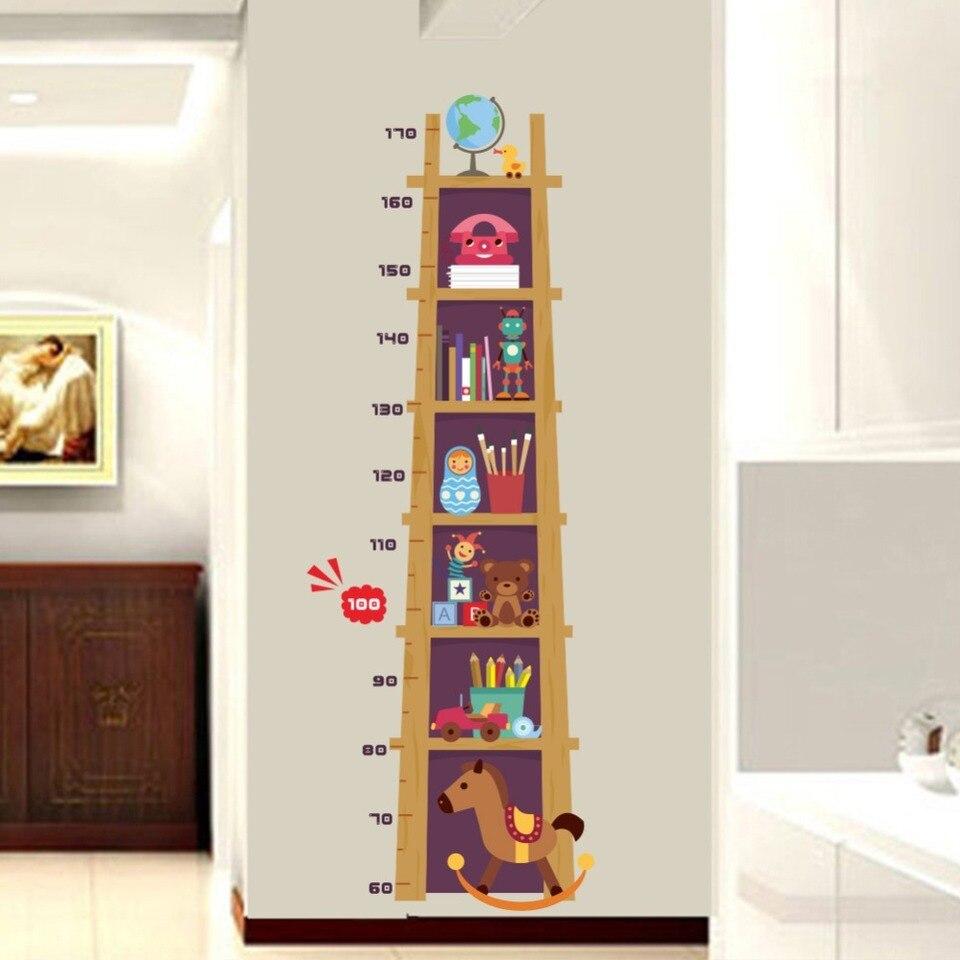 Book Shelf Height Measure Wall Sticker