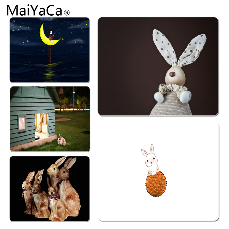 MaiYaCa Rabbit on moon lovely Large Mouse pad PC Computer mat Size for 25X29cm Gaming Mousepads