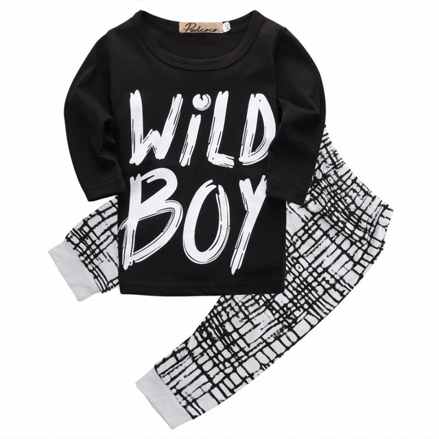 894ec96d1b18 0 24M toddler fall children kids clothes letter wild boy Newborn ...