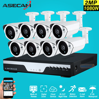 New 8Channel HD AHD 2MP Home Outdoor Security Camera System Kit 3led Array Video Surveillance 1080P