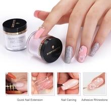 BORN PRETTY 10 мл розовый, белый, прозрачный акриловый порошок для наращивания ногтей Дизайн ногтей строитель хромированный полимерный порошок для ногтей