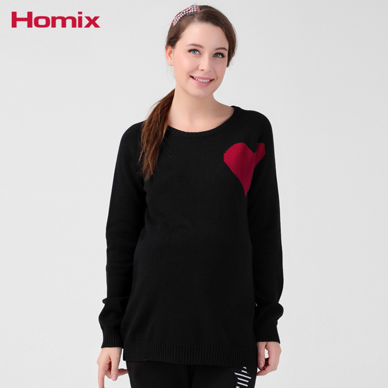 Maternity Sweaters Pregnancy Winter Clothes For Pangnant Women 100% Cotton Knitted Jumpers