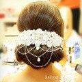 Encaje con crystal joyería del pelo de la tiara de la boda tiara cristalina suave de Corea accesorios para el cabello al por mayor
