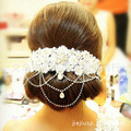 lace with crystal Korean hair jewelry crystal tiara soft tiara wedding hair accessories wholesale