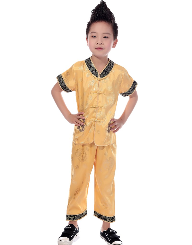 Shanghai Story traditional chinese clothing boys wing chun uniform taichi uniform wushu clothing For boy