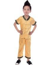 Шанхай история традиционная китайская одежда мальчиков Wing chun равномерное Taichi Униформа ушу Одежда для мальчика