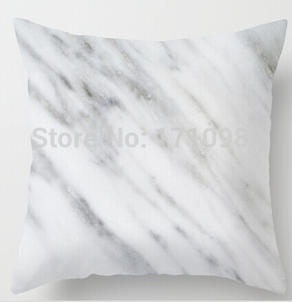 Top selling Carrara <font><b>Italian</b></font> Marble (two sides) Pillow Cases for 12x12 14x14 16x16 18x18 20x20 inch