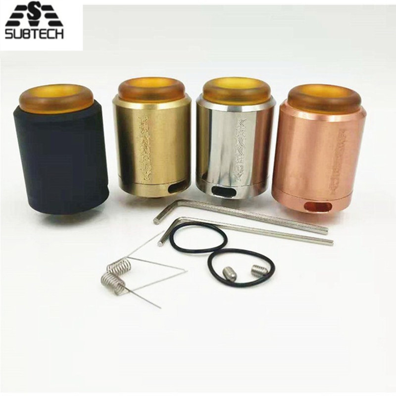 Hot!Kennedy 25 RDA Rebuildable Atomizer RDA 25mm Diameter SS Brass And Copper E Cigarette Vape Pen RDA For 510 Thread Atomizer