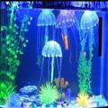 Glowing Artificial Vivid Jellyfish robo fish Aquatic Pets Silicone Fish Tank Decor Aquarium Decoration Ornament