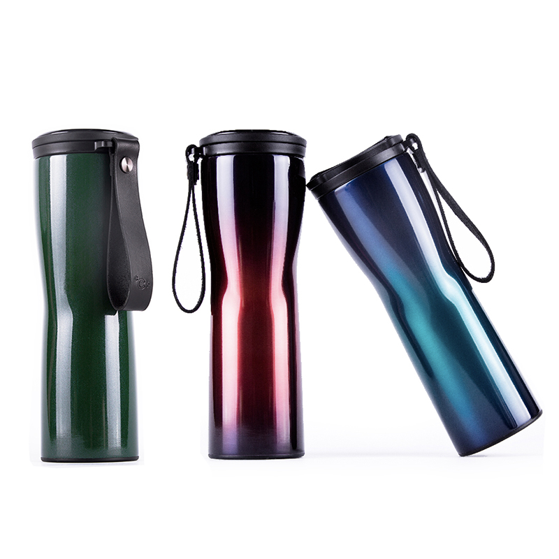 Travel Mug Moka Smart Coffee Tumbler Vacuum Insulation Bottle Touch Temperature Display Screen Stainless Steel Coffee Cup