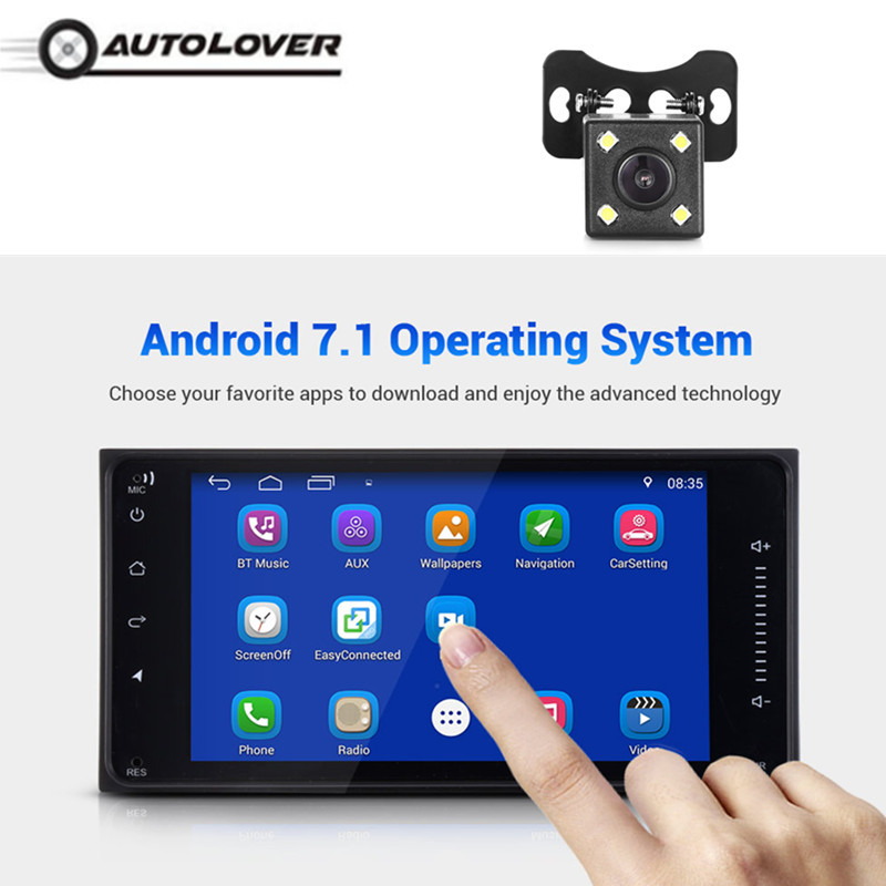 все цены на Autolover 7-inch 2 Din Android 7.1 HD Car Multimedia Player Bluetooth 4.0 Wi-Fi GPS Navigation AM / FM Car Radio for TOYOTA