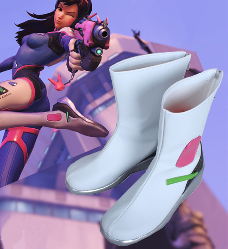 OW <font><b>DVA</b></font> Hana Song Korea Arms Cosplay <font><b>Shoes</b></font> image