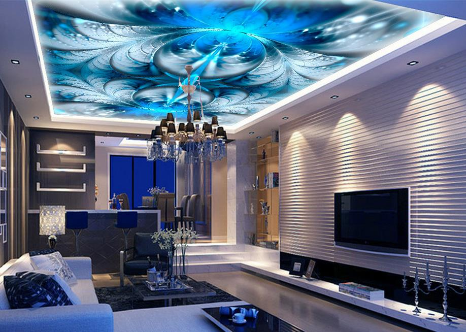 3d wallpaper mural ceiling customize BLUELOVER beautiful abstract flower petals ceiling frescoes non-woven 3d photo wallpaper ceiling non woven wallpapr home decoration wallpapers for living room 3d mural wallpaper ceiling customize size