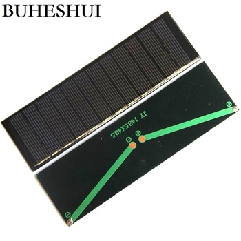 BUHESHUI Mini 0.6W 6V Solar Panel Polycrystalline Solar Cell Solar Power Battery Charger Solar Led Light 143.5*43.5MM 1000Pcs