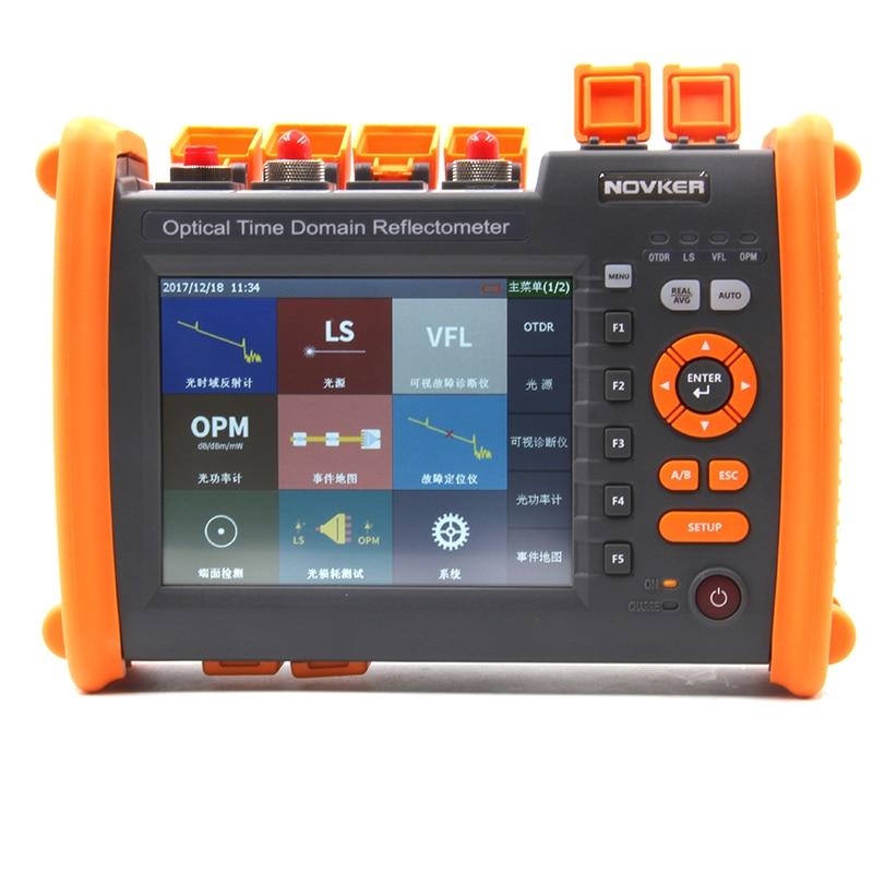 OTDR NK5600 SM OTDR 1310 1550nm 30 32dB Fiber Power Meter Integrated VFL 5MW Touch Screen