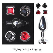 Metal Anal Plug Removable Jewel Decoration Butt Plug Sex Toys Prostate Massager Anus Toys For Women