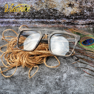 Image 2 - Instagram ผู้หญิง Hot VINTAGE กรอบแว่นตาผู้ชายใหม่สแควร์ Acetate แว่นตาขนาดใหญ่แว่นตาสายตาสั้น Blue Light แว่นตาล้างเลนส์