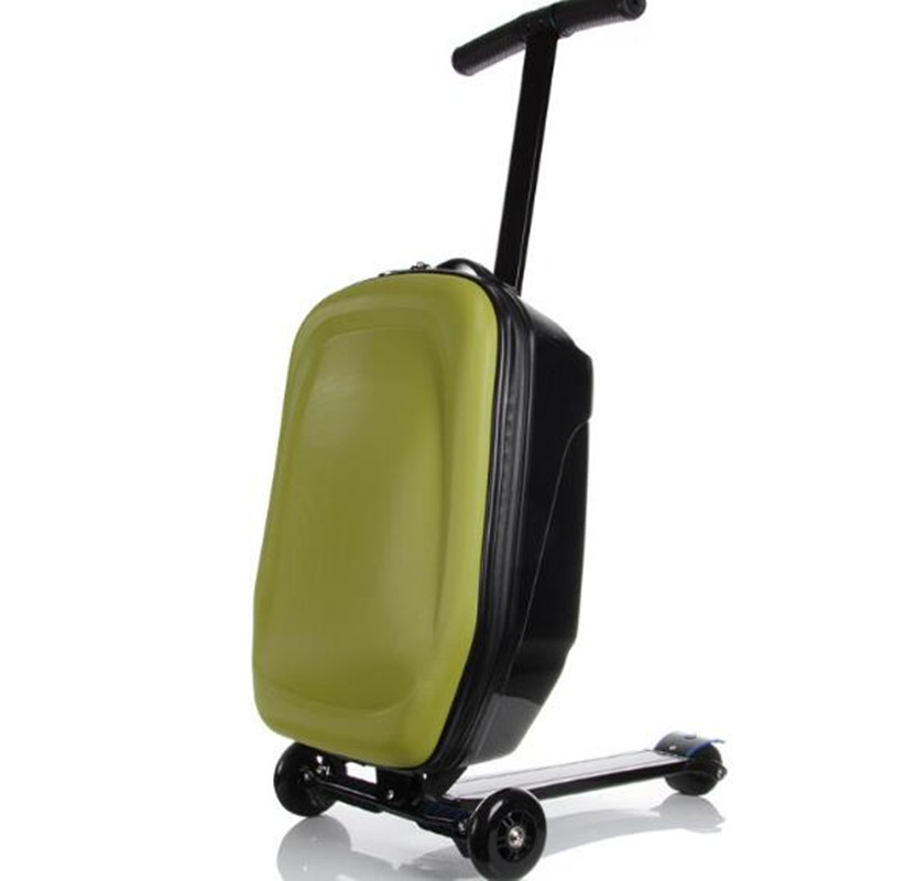 Child Scooter Luggage Suitcase With Wheels Skateboard Carry ons Kids Luggage Travel Trolley Case mala de viagem koffer XL007