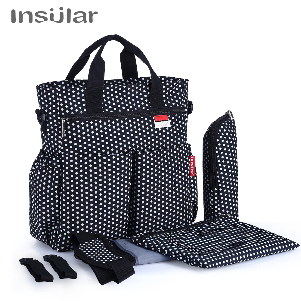 Insular Hot sale High Quality Tote Baby one Shoulder Diaper Bags Durable Nappy Bag Mummy Mother Baby Bag