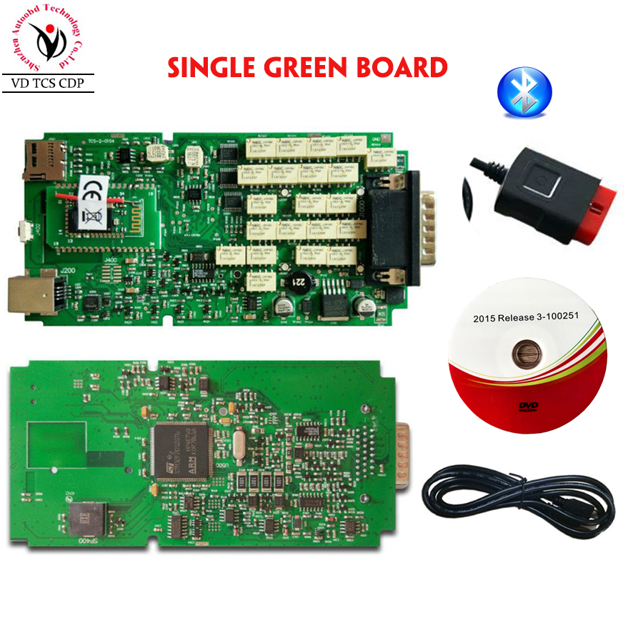 все цены на DHL Quality A+++ Single Board New vci Full CDP Bluetooth Scanner VD TCS CDP plus with LED 3 IN1+ Nec Relay for Cars and Trucks онлайн