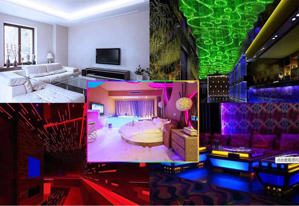 Taśmy LED światło USB 5 V 2835 12SMD 20 CM RGB LED listwa świetlna TV powrotem zestaw oświetlenia dekoracji domu 20 CM taśmy LED u nas państwo lampy