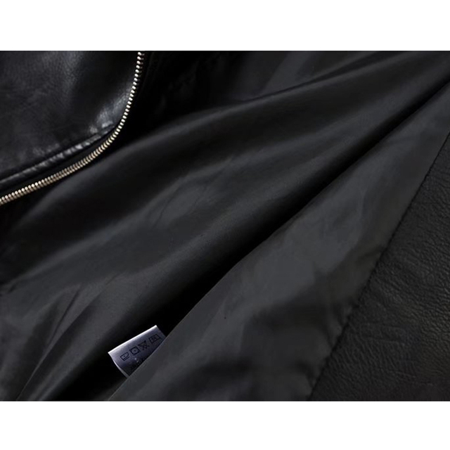 Bella Philosophy 2018 Autumn Winter PU Jacket Coat Women Geometry Zipper Sashes Pocket Basic Jacket Female Long Sleeve Outwear