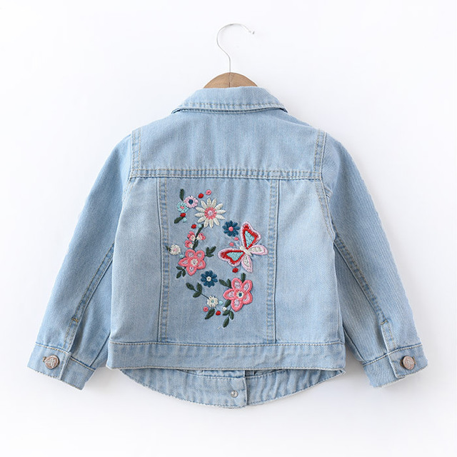 0441be24f Autumn Baby Girls Denim Coats Vintage Jeans Jackets for Girl Toddler ...