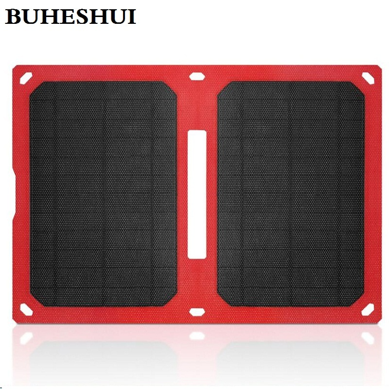 BUHESHUI Foldable 10W 5V ETFE Solar Charger Portable Waterproof Mono Solar Panel Charger With Dual USB