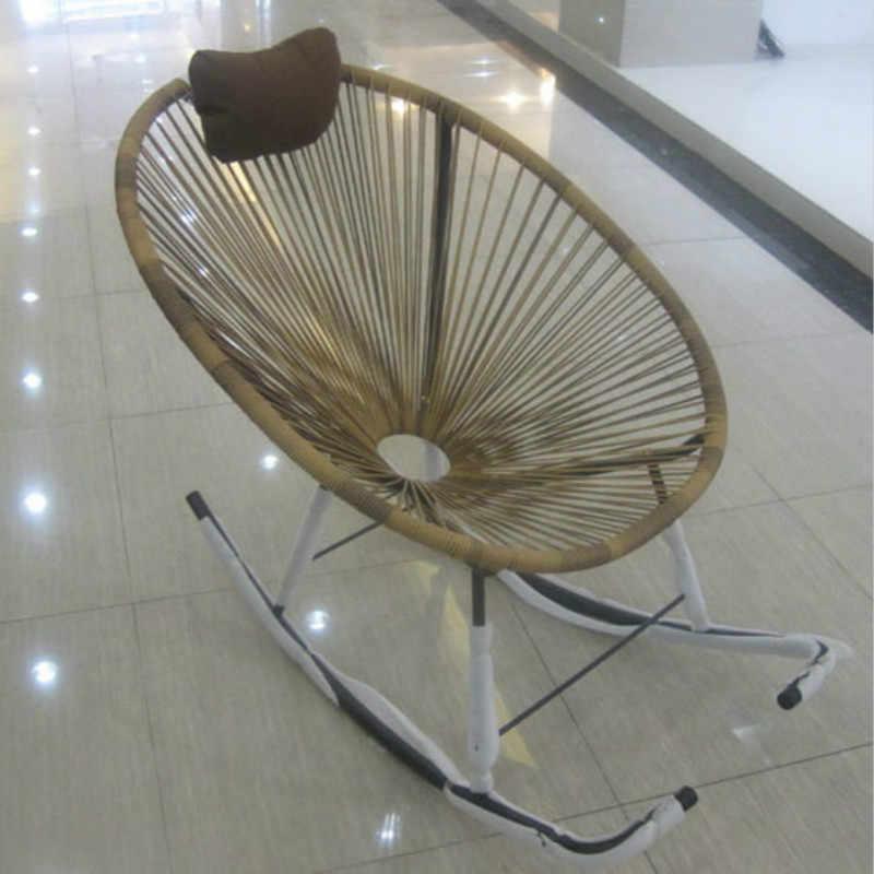 Красочный ротанговый стул кресло-качалка креативный Балконный шезлонг открытый сад Сиеста стул