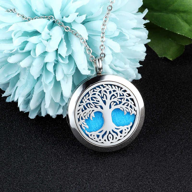 Ubelike 30 мм серебро Духи Колье аромараспылитель кулон ароматерапия Jewelry ювелирные изделия эфирное масло ожерелье с медальоном для женщин