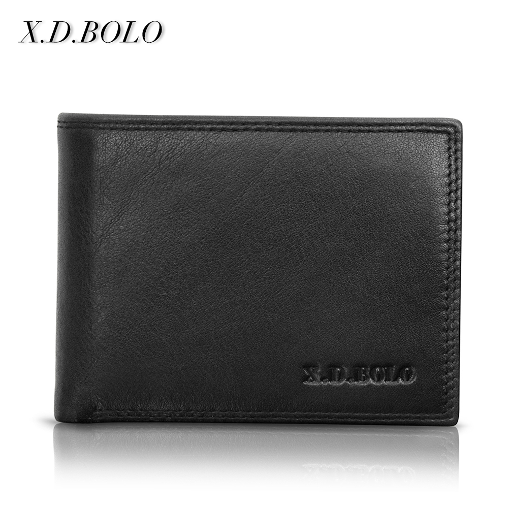 X.D.BOLO Coin-Wallets-Cowhide Man Purses Genuine-Leather Short-Brand Mens Real