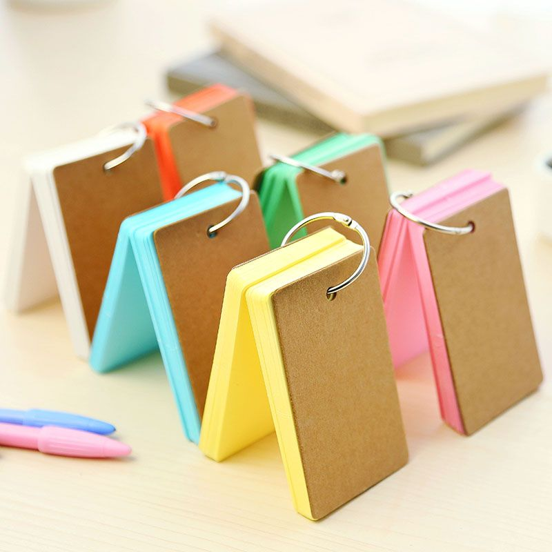 1pcs/lot  Kraft paper Loose-leaf notepad with Hoop DIY Multifunction memo pads message post scratch writing book