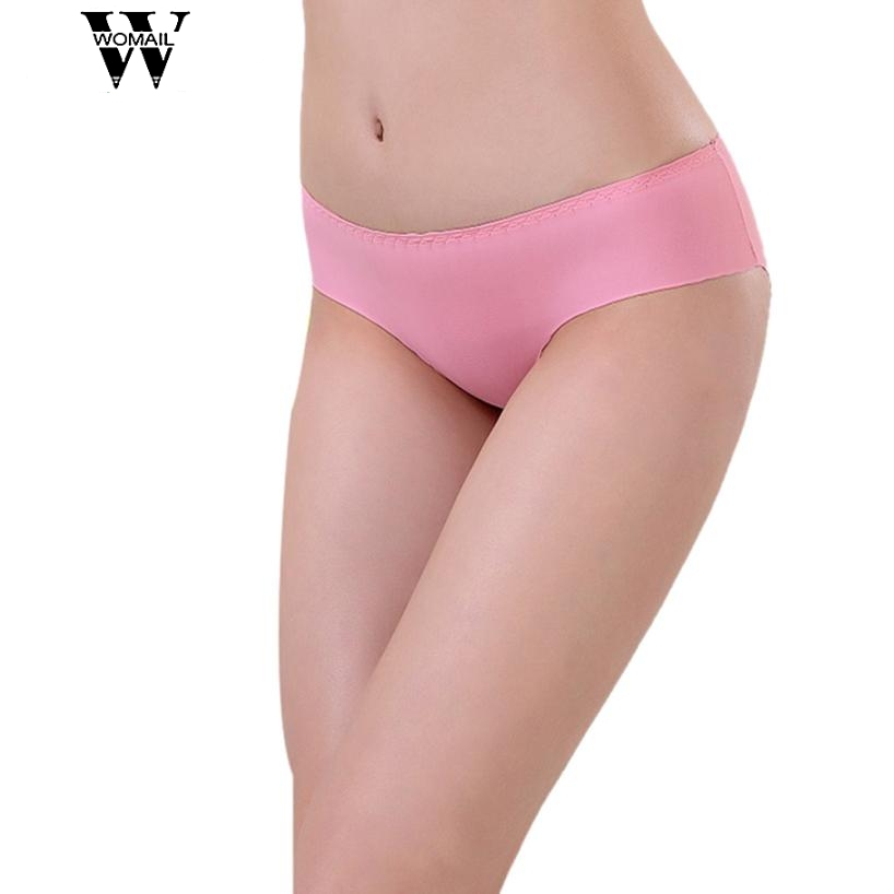 Ladys panties WOMIAL briefs Delicate Hot! 2018 Womens Fashion Invisible Underwear Spandex Seamless Crotch wholesale W7 @