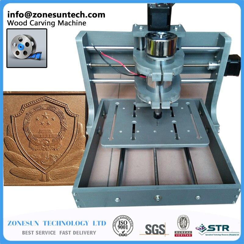 ZONESUN PCB Milling Machine CNC 2020B DIY CNC Wood Carving Mini Engraving Machine PVC Mill Engraver Support MACH3 System