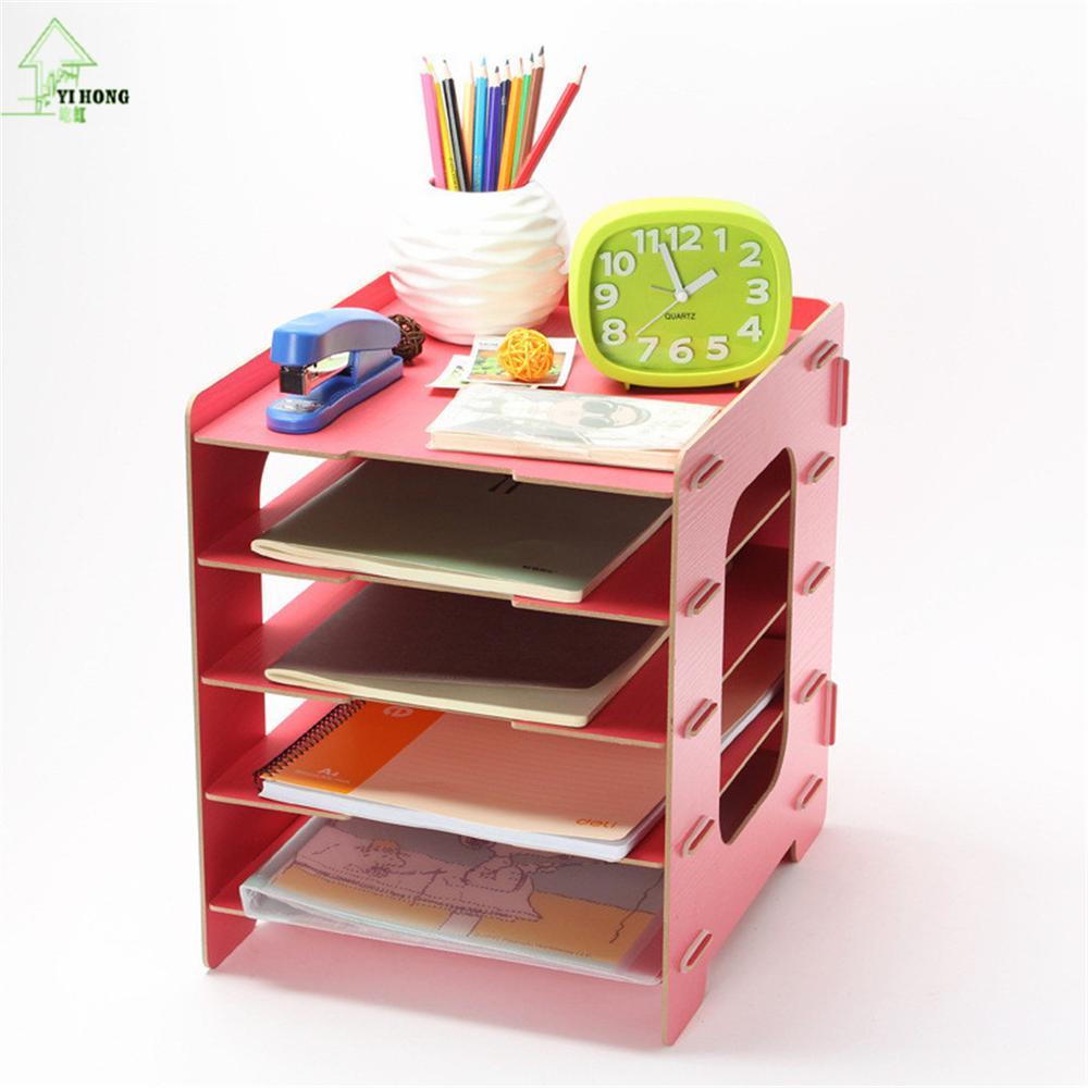 YIHONG bricolage supports de rangement en bois étagères décoratives meubles articles divers boîtes de rangement de bijoux livre magazines supports d'admission maison - 5