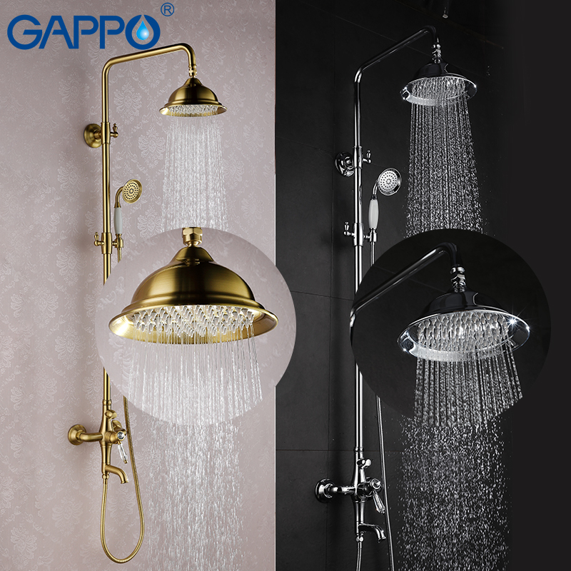 GAPPO shower faucets bath tub taps waterfall faucets shower tap mixer wall mounted shower set shower system