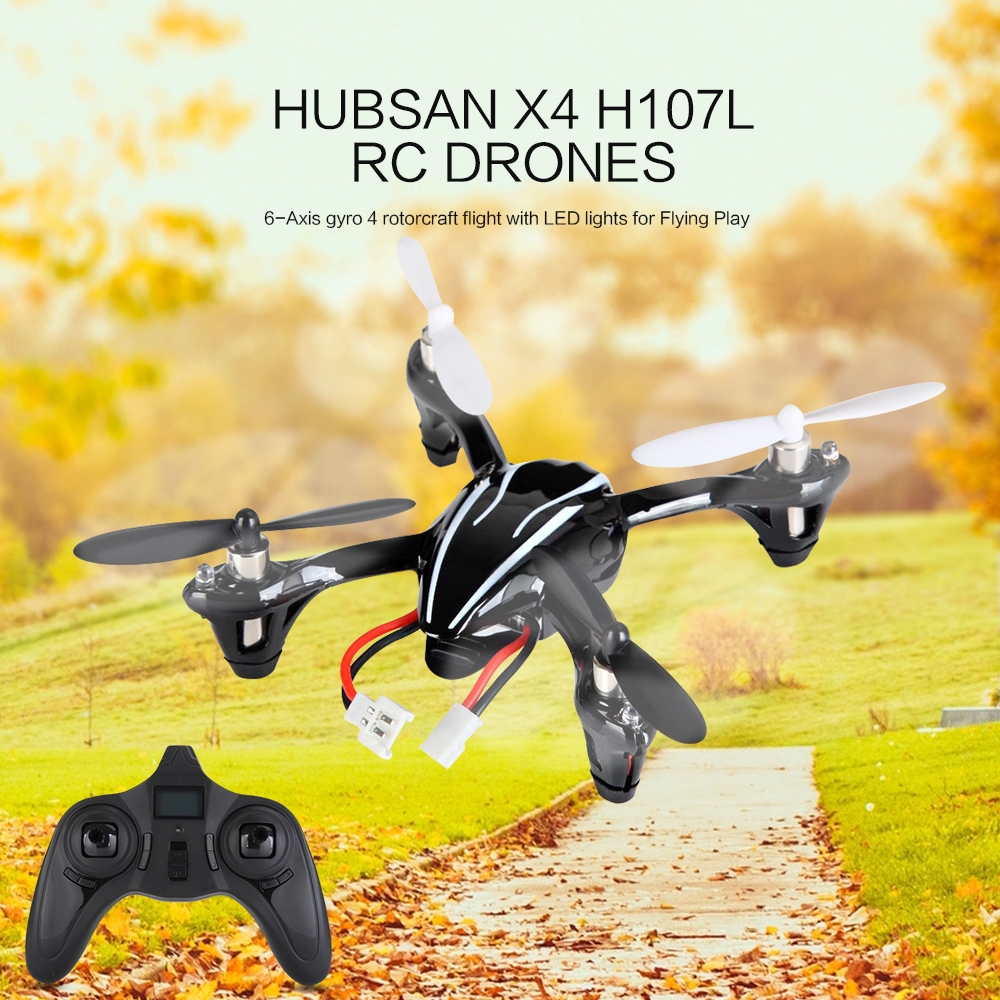 Upgraded Version Hubsan X4 H107L RC Drones 2.4G 4CH Quadcopter RTF Flying Helicopter With Led Light Remote Control Quad Copters цена 2017