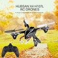 Versión mejorada hubsan x4 h107l rc quadcopter drones 2.4g 4ch rtf helicóptero con control remoto luz led quad helicópteros