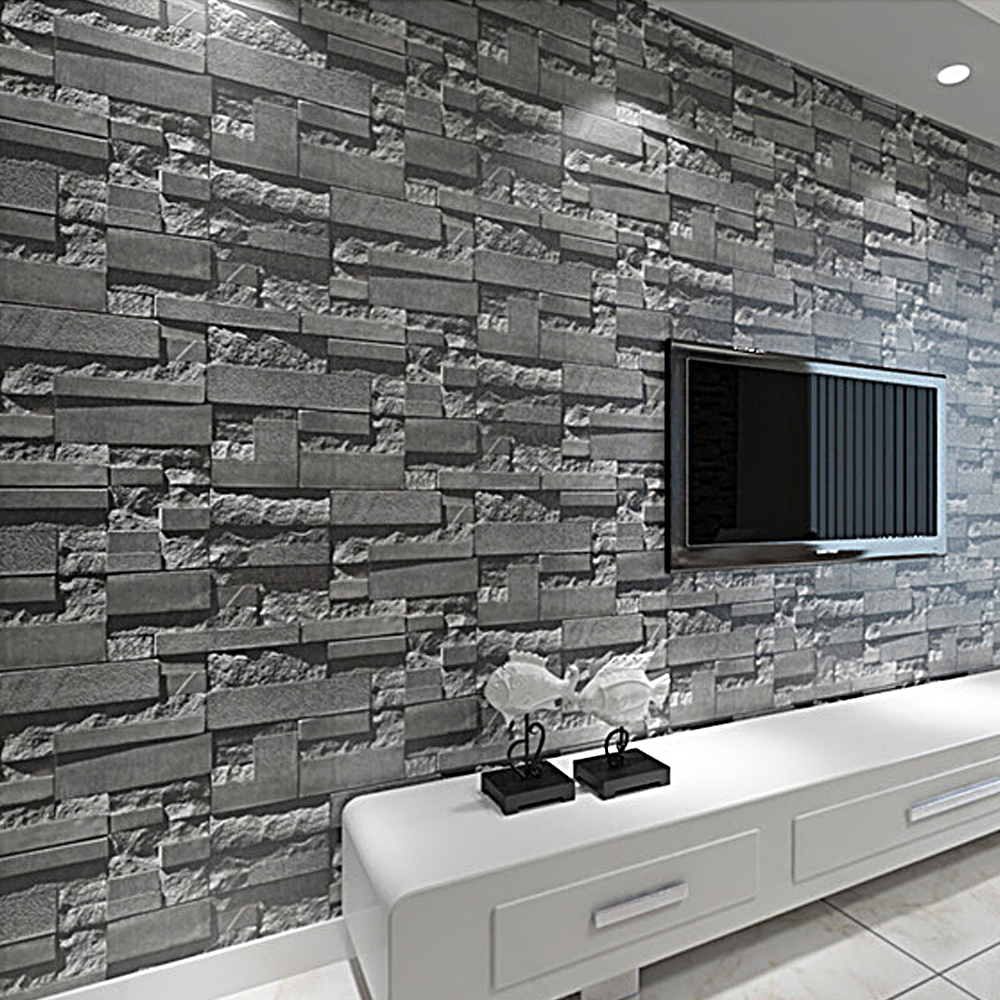 Popular stone textured wallpaper buy cheap stone textured for 3d effect wallpaper for home