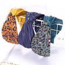 Leopard Accessories Kawaii Wide Hair Bands for Women Elegant Fashion Hot Sale Elastic Hoop Boho 2019